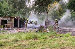 Brand op campingterrein Enkhuizen