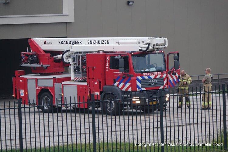 Brand bij koekfabriek Enkhuizen