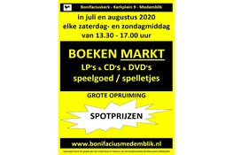 Elke zaterdag in juli en augustus boekenmarkt bij Bonifacius Medemblik
