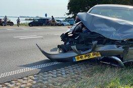 Ongeval met veel schade op de N307 Enkhuizen
