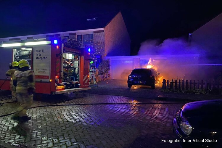Autobrand in Enkhuizen