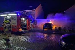 Autobrand aan de Prunuslaan in Enkhuizen