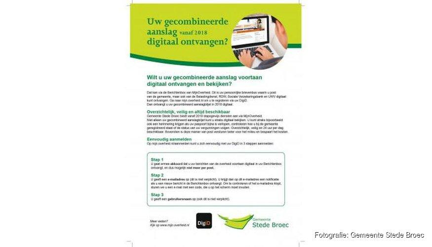 Aanslag gemeentelijke belastingen digitaal ontvangen