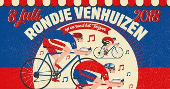 Rondje Venhuizen op zondag 8 juli!  Een waar dorpsfeest met wielerronde, jaarmarkt en muzikale optredens.
