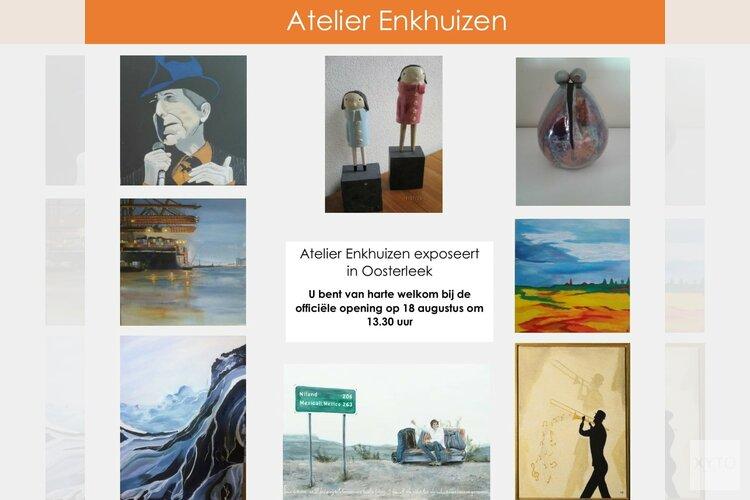 """Eerste expositie kunstenaarsgroep"""" Atelier Enkhuizen"""""""