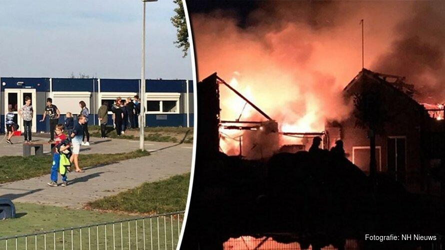 """Jaar na brand basisschool Enkhuizen: """"Uiteindelijk wel ons plekje gevonden"""""""