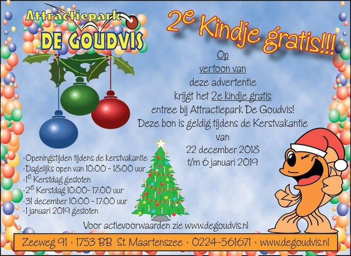 Nieuwe Actie bij Attractiepark De Goudvis