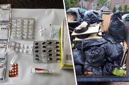 Tientallen pillen op de grond: container vol afval van drugspand onbeheerd naast speelplaats