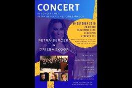 In concert met Petra Berger en het Driebankoor