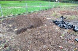 Schatgravers verstoren archeologische resten bij Hertenkamp Enkhuizen