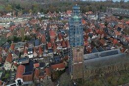 Steiger afbreken op zestig meter hoogte: onderhoud Enkhuizer Zuidertoren afgerond