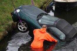 Auto te water in Enkhuizen